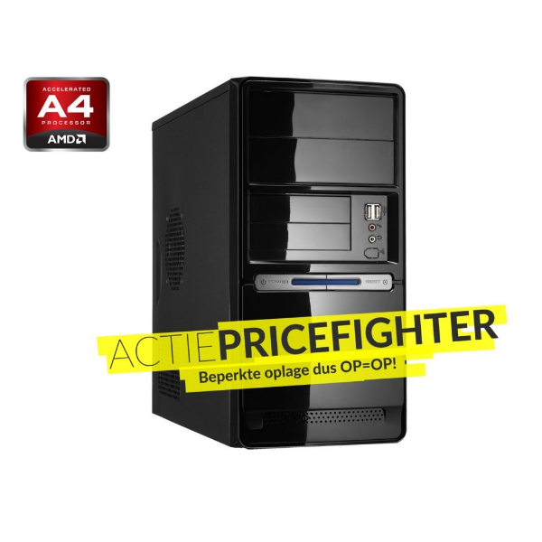 AKTIE Pricefighter ( A4 AMD / 4GB DDR3 / 1TB / DVD / W10